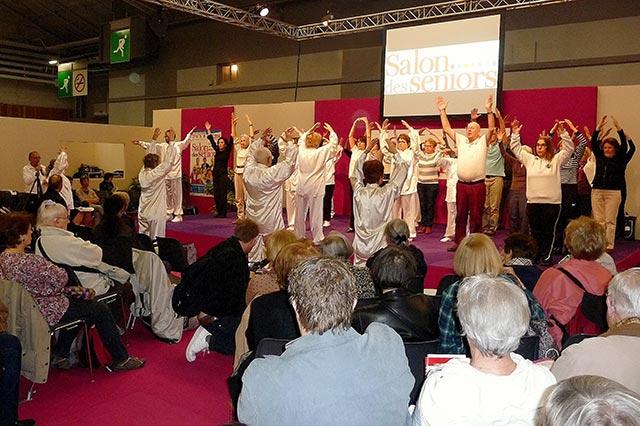 Démonstration de Taïchi et Qi Gong au Salon des seniors 2014 Porte de Versailles à Paris