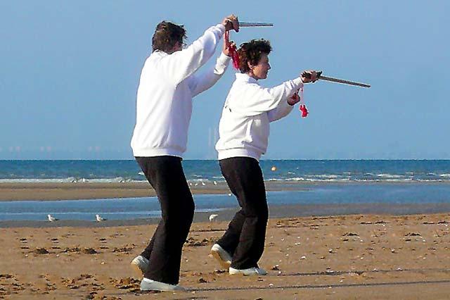 Stage de Qi Gong et Taichi à Houlgate - Pratique de l'épée