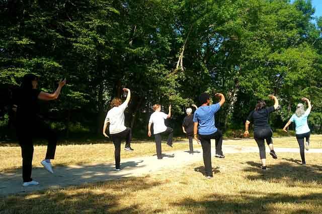 Tai Chi d'été au parc du Tronchet_ août 2019