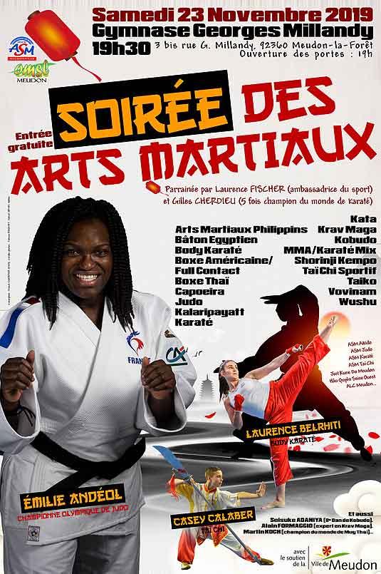 Affiche Gala des Arts Martiaux du 16 novembre 2019